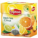 Чай LIPTON (Липтон) «Citrus», черный с цедрой цитрусовый, 20 пирамидок по 2 г