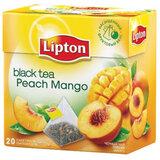 Чай LIPTON (Липтон) «Peach Mango», черный с персиком и манго, 20 пирамидок по 2 г