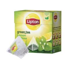 Чай LIPTON (Липтон) «Green Lemon Melissa», зеленый, 20 пирамидок по 2 г