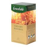 Чай GREENFIELD (Гринфилд) «Creamy Rooibos» («Сливочный ройбуш»), ройбуш, 25 пакетиков в конвертах по 1,5 г