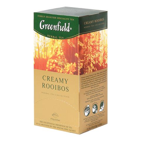 """Чай GREENFIELD (Гринфилд) """"Creamy Rooibos"""" (""""Сливочный ройбуш""""), ройбуш, 25 пакетиков в конвертах по 1,5 г"""