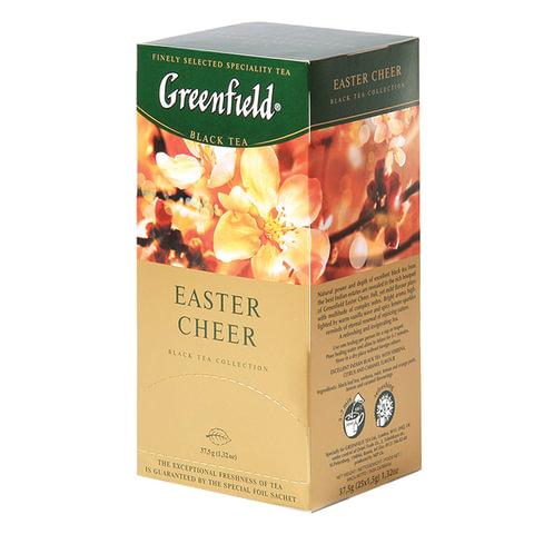 Чай GREENFIELD (Гринфилд) «Easter Cheer» («Пасхальное настроение»), черный с ванилью, 25 пакетиков в конвертах по 1,5 г