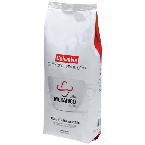 Кофе в зернах MOKARICO «Columbia», натуральный, арабика 80% робуста 20%, 1000 г, вакуумная упаковка