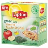 Чай LIPTON (Липтон) «Vienna Apple Strudel», зеленый, 20 пирамидок по 2 г