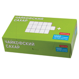 Сахар-рафинад «Чайкофский», 1 кг (196 кусочков, 15×16×21 мм), высший сорт по ГОСТу, картонная упаковка