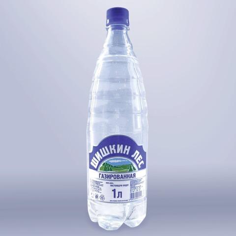 Вода газированная питьевая «Шишкин лес», 1 л, пластиковая бутылка