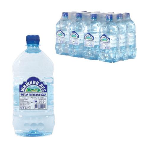 Вода негазированная питьевая «Шишкин лес», 1 л, пластиковая бутылка