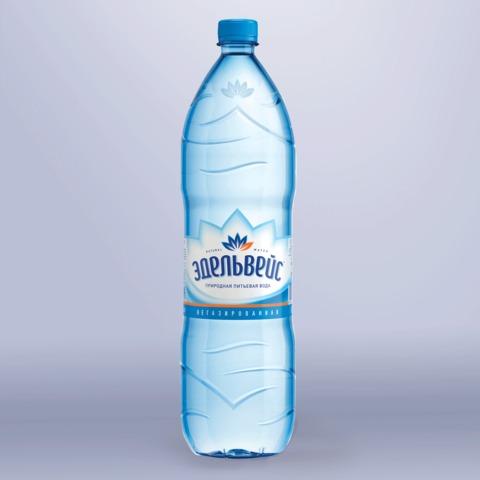 Вода негазированная питьевая ЭДЕЛЬВЕЙС «Натурель», 1,5 л, пластиковая бутылка