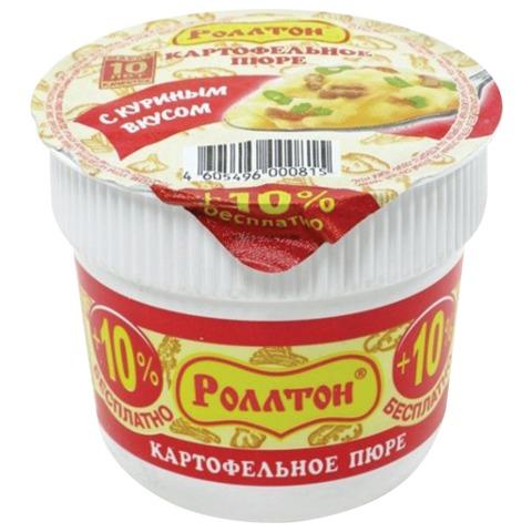 Пюре картофельное РОЛЛТОН быстрого приготовления, со вкусом курицы, 40 г, стакан
