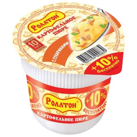 Пюре картофельное РОЛЛТОН быстрого приготовления, с сухариками, 40 г, стакан
