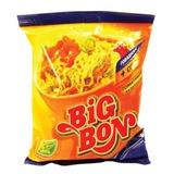 Лапша BIG BON быстрого приготовления с говядиной и соусом «Томат с базиликом», 75 г