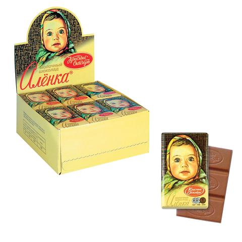 Шоколад КРАСНЫЙ ОКТЯБРЬ «Аленка», 15 г, в шоубоксе