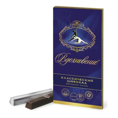 """Шоколад БАБАЕВСКИЙ """"Вдохновение"""", классический, в стиках, 100 г, картонная упаковка"""