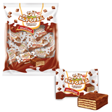 Конфеты шоколадные РОТ ФРОНТ «Коровка», вафельные с шоколадной начинкой, 250 г, пакет