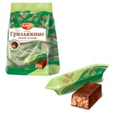Конфеты шоколадные РОТ ФРОНТ «Грильяж», мягкие, 250 г, пакет
