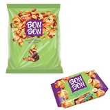Конфеты РОТ ФРОНТ «Bon Bon», мягкая карамель, нуга, орехи, 1000 г, пакет