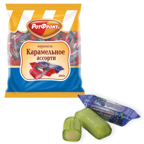 Конфеты-карамель БАБАЕВСКИЙ «Карамельное ассорти», 250 г, пакет