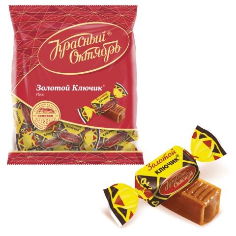 Конфеты-ирис КРАСНЫЙ ОКТЯБРЬ «Золотой ключик», 250 г, пакет