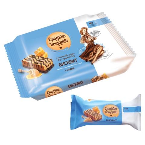 Пирожное СЛАДКИЕ ИСТОРИИ, бисквит с медом, 270 г, пакет