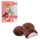 Зефир СЛАДКИЕ ИСТОРИИ, с клубникой, шоколадная глазурь, 250 г, пакет