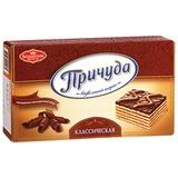 Торт ПРИЧУДА «Классический», вафельный с арахисовой начинкой, 370 г