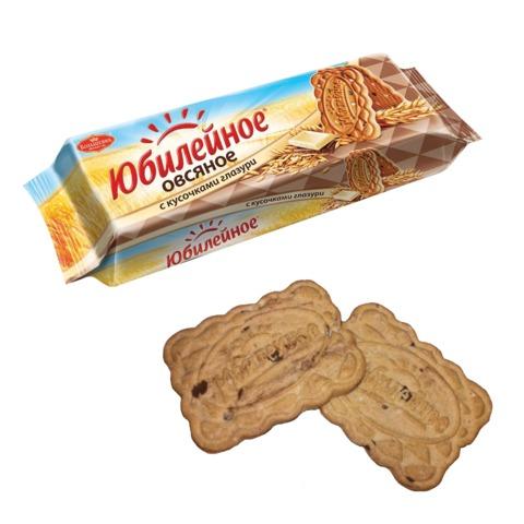 Печенье ЮБИЛЕЙНОЕ овсяное с кусочками шоколада, 112 г