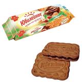 Печенье ЮБИЛЕЙНОЕ ореховое с темной глазурью, 116 г