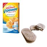 Печенье ЮБИЛЕЙНОЕ «Утреннее», сэндвич с йогуртовой начинкой, витаминизированное, 253 г