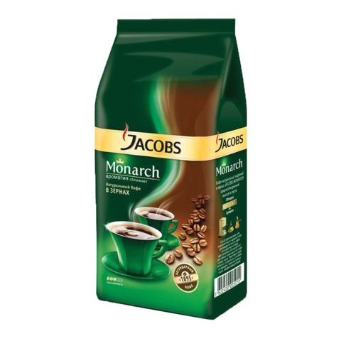 Кофе в зернах JACOBS MONARCH, 250 г, вакуумная упаковка