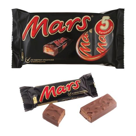 Шоколадные батончики MARS (Марс) мультипак, 5 шт. по 40,5 г (202,5 г)