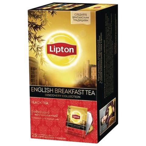 Чай LIPTON (Липтон) Discovery«English Breakfast», черный, 25 пакетиков по 2 г