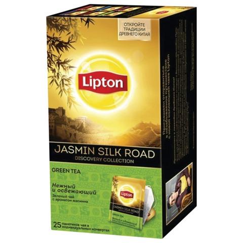 Чай LIPTON (Липтон) Discovery «Jasmin Silk Road», зеленый, 25 пакетиков по 1,4 г