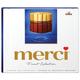 Конфеты шоколадные MERCI (Мерси), ассорти из молочного шоколада, 250 г, картонная коробка