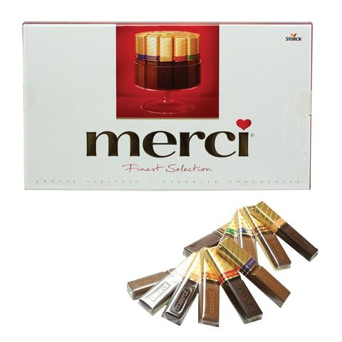 Конфеты шоколадные MERCI (Мерси), ассорти, 400 г, картонная коробка