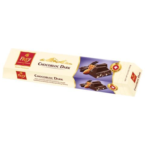 Шоколад FREY «Chocobloc Dark» (Швейцария), темный шоколад с медом, нугой и орехами, 100 г