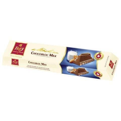 Шоколад FREY «Chocobloc Milk» (Швейцария), молочный шоколад с медом, нугой и орехами, 100 г