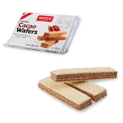 Вафли SPITZ (Австрия), хрустящие, с какао-кремом, 60 г, пакет