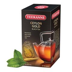 Чай TEEKANNE (Тикане) «Ceylon Gold», черный, 25 пакетиков по 2 г в конвертах, Германия