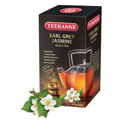 Чай TEEKANNE (Тикане) «Jasmine Earl Grey», черный, бергамот/<wbr/>жасмин, 25 пакетиков, Германия