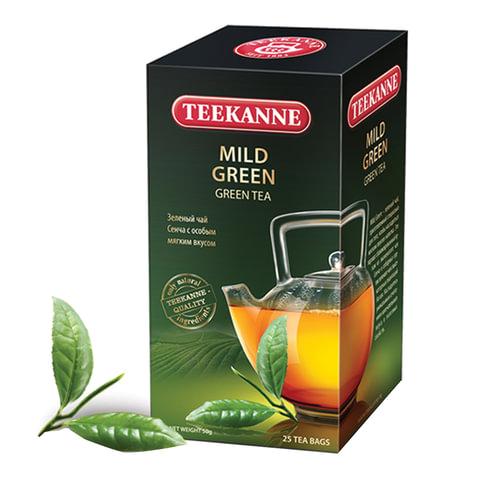 Чай TEEKANNE (Тикане) «Mild Green», зеленый, 25 пакетиков по 1,75 г в конверте, Германия