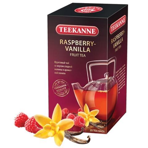 Чай TEEKANNE (Тикане) «Raspberry-Vanilla», фруктовый, малина/<wbr/>ваниль, 25 пакетиков, Германия