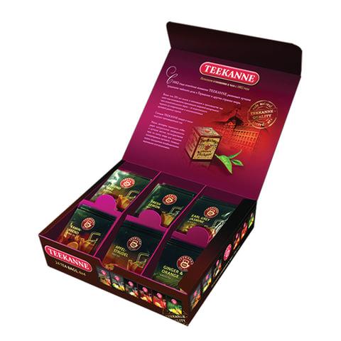 Чай TEEKANNE (Тикане), набор 6 вкусов, ассорти «Assorted Box», 24 пакетика, Германия