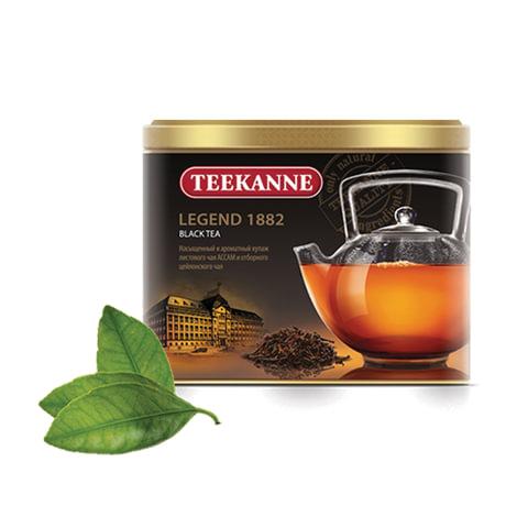"""Чай TEEKANNE (Тикане) """"Legend 1882"""", черный, листовой, жестяная банка, 150 г, Германия"""