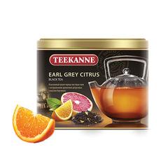 Чай TEEKANNE (Тикане) «Earl Grey Citrus», черный, бергамот/<wbr/>цитрус, листовой, 150 г, Германия