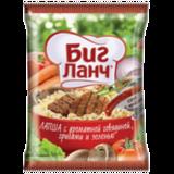 Лапша БИГ ЛАНЧ быстрого приготовления, с говядиной, грибами и зеленью, 75 г, пачка
