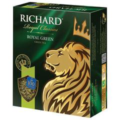 Чай RICHARD (Ричард) «Royal Green», зеленый, 100 пакетиков по 2 г