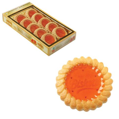 Печенье БИСКОТТИ (Россия) с апельсиновым мармеладом, сдобное, 235 г, картонная коробка