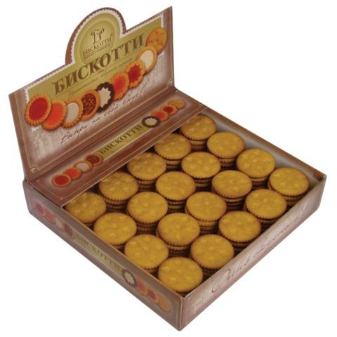 Печенье БИСКОТТИ (Россия) «Шокко», с шоколадной начинкой, глазированное, сдобное, 1,75 кг, шоу-бокс