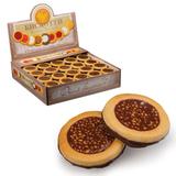 Печенье БИСКОТТИ (Россия) с орехом, глазированное, сдобное, 1,8 кг, картонный шоу-бокс