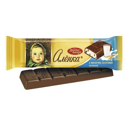 """Шоколад КРАСНЫЙ ОКТЯБРЬ """"Аленка"""", молочный с молочно-злаковой начинкой, 45 г"""